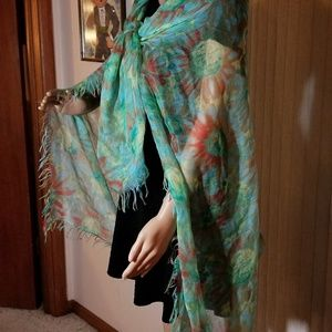Collection 18 Aqua Mist Scarf Pashmina